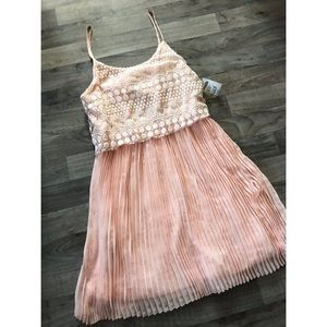 Charlotte Russe Pale Pink Pleated Dress
